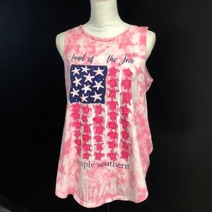 Simply southern turtle tank shirt new